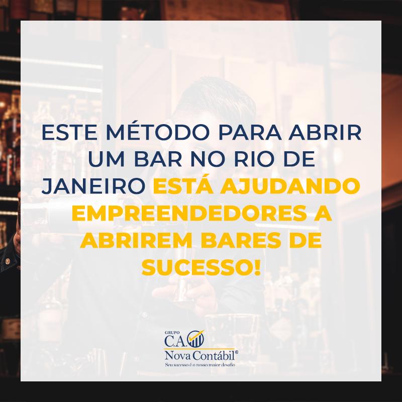 ESTE MÉTODO PARA ABRIR UM BAR NO RIO DE JANEIRO